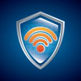 Shield icon. Security system design. Vector graphic Royalty Free Stock Photography