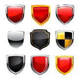 Shield Icon Set. Vector Stock Image
