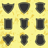 Shield icon set Royalty Free Stock Images