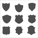 Shield icon set. Vector illustration Isolated on white background Stock Photos
