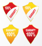 Shield icons 100% guaranty Royalty Free Stock Photo