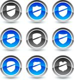 Shield icons. Royalty Free Stock Photography