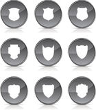 Shield icons. Stock Photography