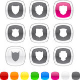 Shield icons. Stock Images