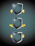 Shield icons Royalty Free Stock Photo