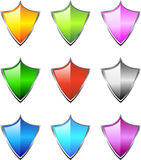 Shield Icons Stock Image