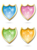 Shield icons set Stock Photo