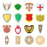 Shield icons set Stock Image