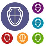 Shield icons set Stock Image