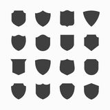 Shield icons Royalty Free Stock Photos