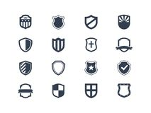 Shield icons Stock Images