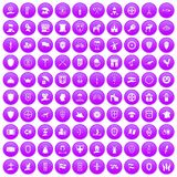 100 shield icons set purple. 100 shield icons set in purple circle isolated vector illustration vector illustration