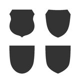 Shield icons set Royalty Free Stock Image