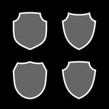 Shield icons set Stock Photography