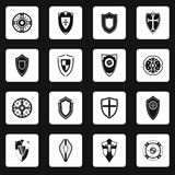 Shield icons set in simple style Royalty Free Stock Photo
