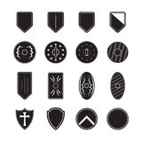 Shield icons set Stock Photos