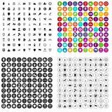 100 shield icons set vector variant. 100 shield icons set vector in 4 variant for any web design isolated on white vector illustration