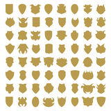 Shield icons Royalty Free Stock Image