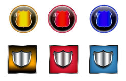 Shield icons. Royalty Free Stock Photos
