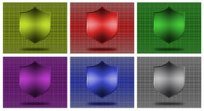 Shield icons. Royalty Free Stock Image