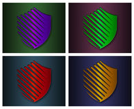Shield icons. Royalty Free Stock Photo