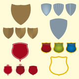 Shield icons (vector). Shield icon set (vector). Four simple and stylized shields vector illustration