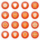 Shield icons vector set Stock Photography