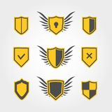 Shield icons Royalty Free Stock Images