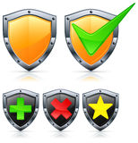 Shield Icons With Signs Royalty Free Stock Image