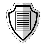 Shield insurance with document isolated icon Royalty Free Stock Photography