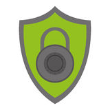 shield with key lock Royalty Free Stock Images