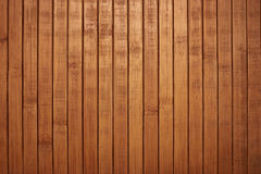 Shield with a large number of parallel wooden logs texture. Wood blinds Stock Photo