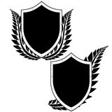 Shield and a laurel branch Royalty Free Stock Photos