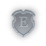 Shield with letter E Royalty Free Stock Photography