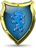 Shield with a lion Stock Images