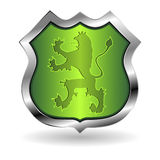 Shield with lion Royalty Free Stock Photos