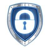 Shield and lock Stock Photo