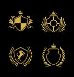 Shield Logo Collection, Golden Shield Logo, Kingdom Logo. Is a good logo design for company or business vector illustration