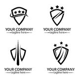 Shield logo royalty free stock images