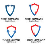 Shield logo icon design template elements royalty free stock images