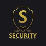 Shield logo. Protection company. Security. Guardian. Vector illustration. Stock Photos