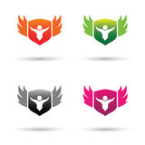 Shield logo and vector Royalty Free Stock Photos