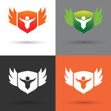 Shield logo and vector Stock Photo