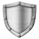 Shield made from metal Stock Photos