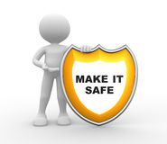 Shield. Make it safe Stock Photography