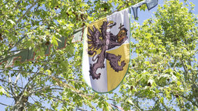 Shield, medieval coats of arms in a traditional ancient art fair Royalty Free Stock Photography