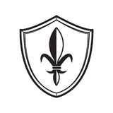Shield of a medieval knight. Simple shield of a medieval knight Stock Photography