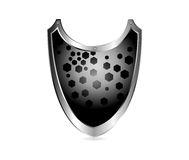Shield metal Stock Images