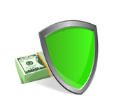 Shield and money - security concept Royalty Free Stock Photos