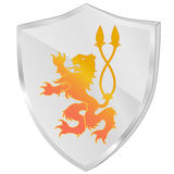 A shield with a monster Stock Image